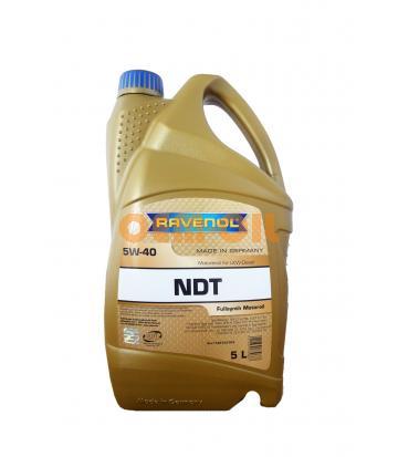 Моторное масло RAVENOL NDT SAE 5W-40 (5л) new