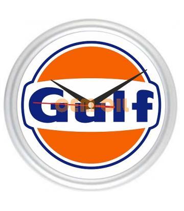 Настенные часы с логотипом GULF
