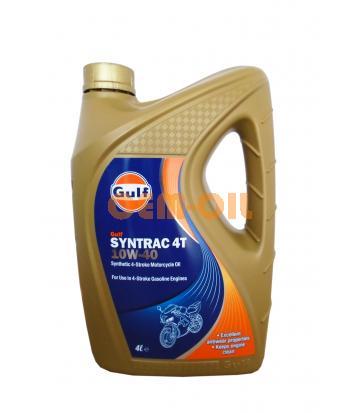 Моторное масло для 4-Такт двигателей GULF Syntrac 4T SAE 10W-40 (4л)