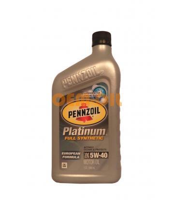 Моторное масло PENNZOIL Platinum European Formula SAE 5W-40 (0,946л)