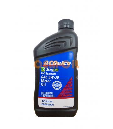 Моторное масло AC DELCO Full Synthetic dexos1 Gen2 Motor Oil SAE 5W-30 (0,946л)