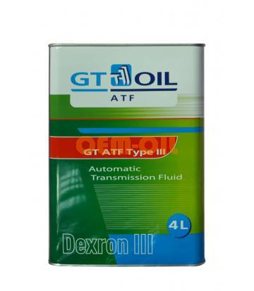 Трансмиссионное масло для АКПП GT ATF Type III (4л)