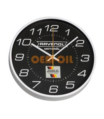 Фирменные настенные часы с логотипом RAVENOL® черные