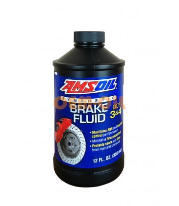 Тормозная жидкость AMSOIL DOT 3 and DOT 4 Synthetic Brake Fluid (0,355л)