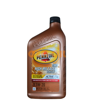 Моторное масло PENNZOIL High Mileage Vehicle SAE 5W-20 (0,946л)