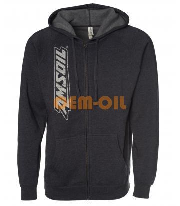 Куртка с накладными карманами (худи) черная AMSOIL