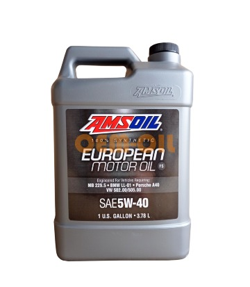 Моторное масло AMSOIL 100% Synthetic European Motor Oil FS SAE 5W-40 (3,784л)