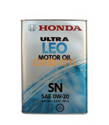 Моторное масло HONDA Ultra LEO API SN SAE 0W-20 (4л)